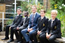 Mr Reeve with Year 7s