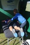 Physios on hand to sooth tired muscles
