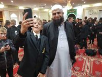 Selfie with the Imman, Wimbledon Mopsque