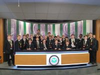 Year 7 in the Newsroom at Wimbledon