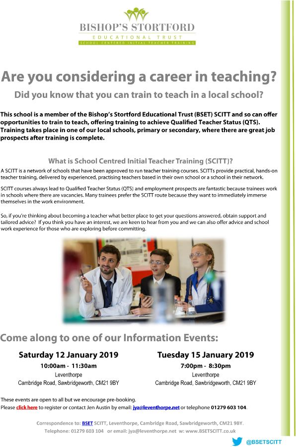Are you Considering a Career in Teaching?