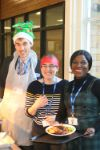 Languages Department help serve Christmas Lunch