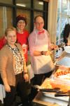 Staff serve Christmas Lunch 2018