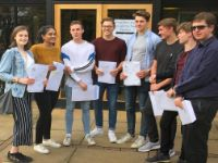 High School Students Celebrate A-Level Exam Success