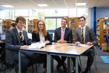 Mr Reeve with 6th Formers