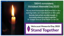 TBSHS Remembers: Holocaust Memorial Day