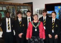 Mayor Norma Symonds speaks to Year 11