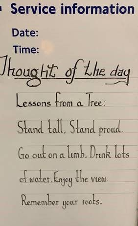 Thought for the Day 4th December