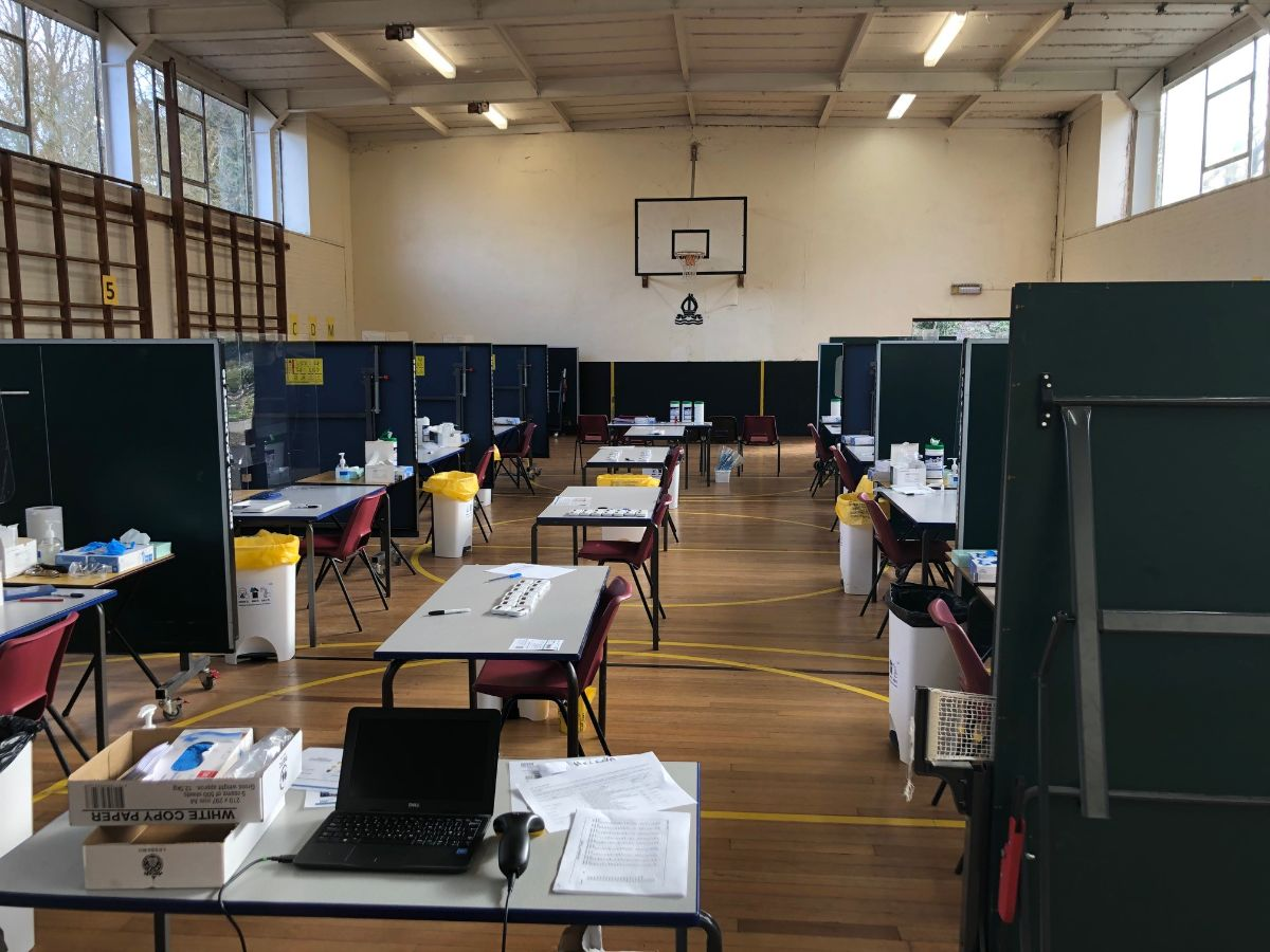 TBSHS Gym Turns into a Covid testing Centre
