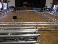 Laying out the lighting rig ready to build