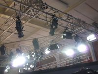 Lighting rig in use