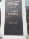Plaque outside the Schindler  factory Krakow