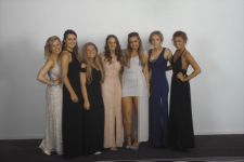 Here come the girls! Leavers Ball, Radisson 2014