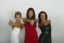 Practising being Charlie's Angels, Leavers Ball, Radisson 2014