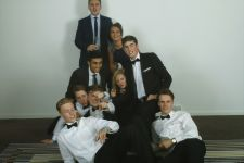 That was a really good pyramid until everyone squashed Mrs Parr. Leavers Ball, Radisson 2014