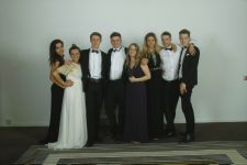 Students with Miss Epton, Leavers Ball, Radisson 2014