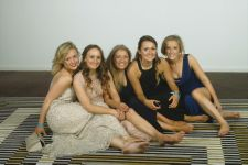 Ladies with toes, Leavers Ball, Radisson 2014