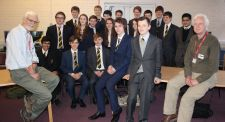 Prof. Lepage & Prof. Horgan with Maths & Physics Society
