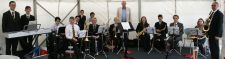 Swing Band play at a Stansted Airport Function, July 2014