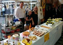 PTFA selling cakes on Open Evening