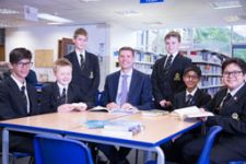 Mr Reeve with Year 7 pupils