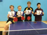 Winners U13 Table Tennis  Zone Finals, January 2018